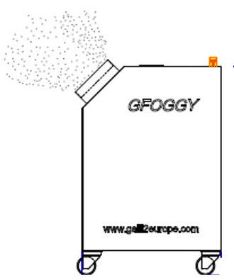 GFOGGY Nebulizzatore-sanificazione-disinfezione-Virkon-Virucida Galli Nebbia Secca Automatico Ugello